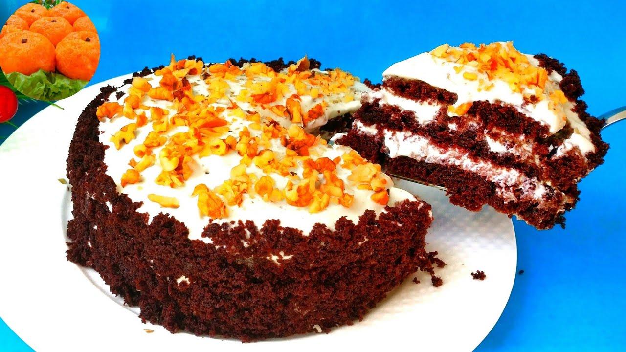 Шоколадный торт Три стакана на кефире