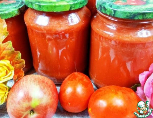 """Соус """"Пиццерия"""" из яблок и томатов"""