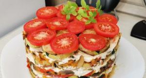 Овощной торт с кабачками