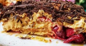 Торт без выпечки Вишнёвое блаженство