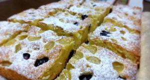 Пирог с виноградом: простой рецепт