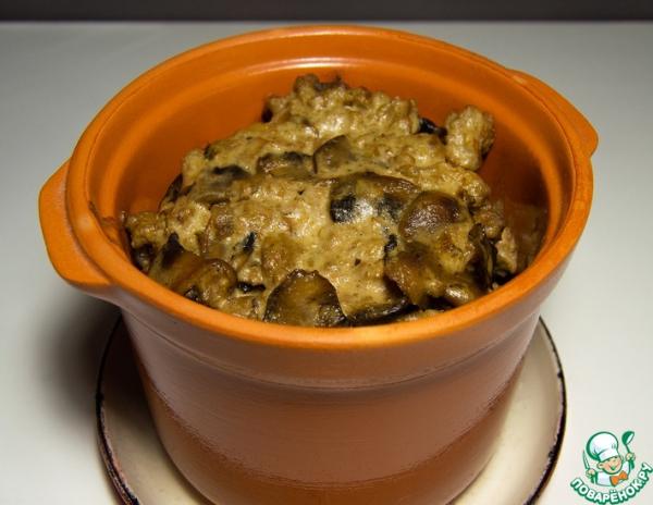 Бандуряники с грибами и мясом