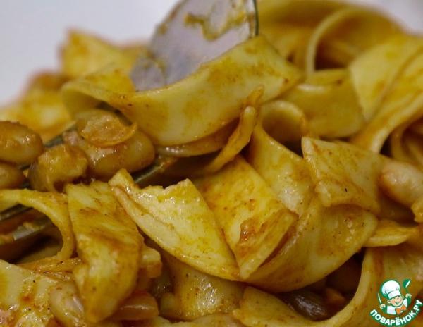 Паста с фасолью по венгерски