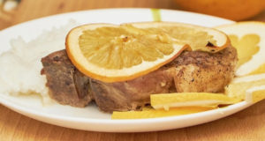 Свиная корейка с апельсином в духовке