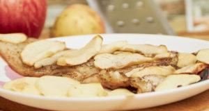 Пангасиус с яблоками в духовке